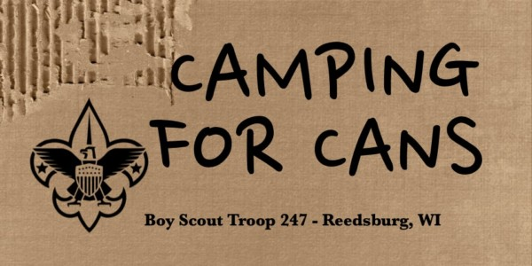 Boy Scouts Camping for Cans