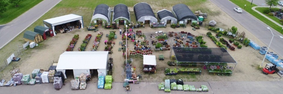 Greenhouses Aerial View