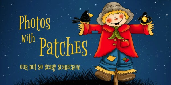 Halloween Photos with Patches the Scarecrow